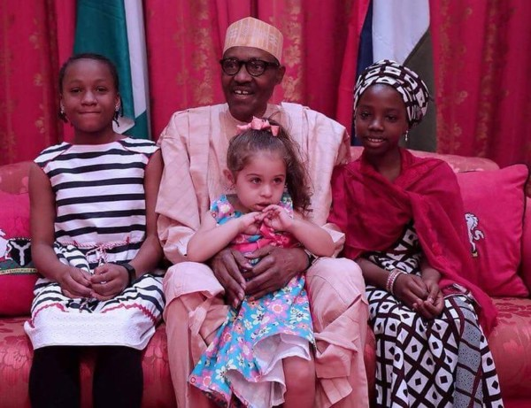 Here Is What We Know About The 3 Young Girls Who Visited President Buhari  At Aso Rock