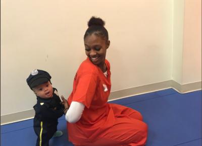 Cute Halloween Photos Of Boy Arresting Mother
