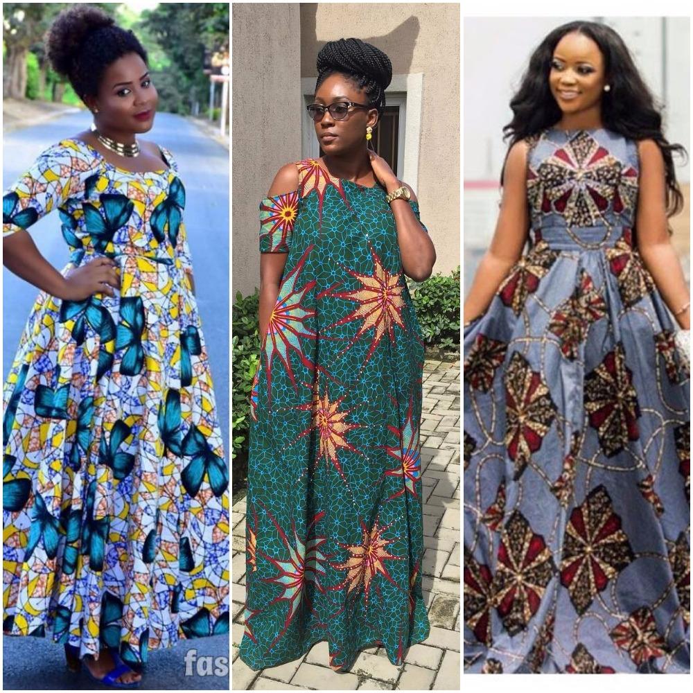 These 19 Photos Of Trending Ankara Maxi Dresses Will Turn