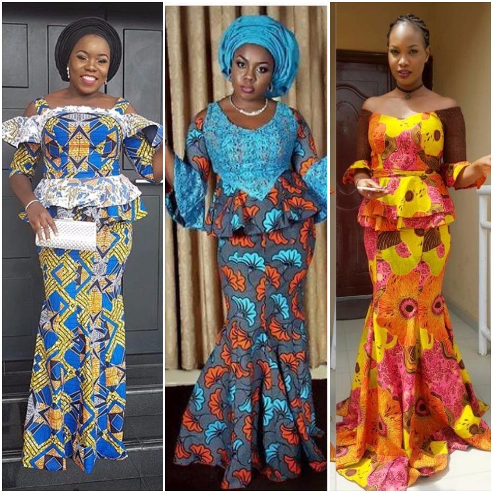eea0d99a9e4127 Ankara Skirt And Blouse Style For Wedding t