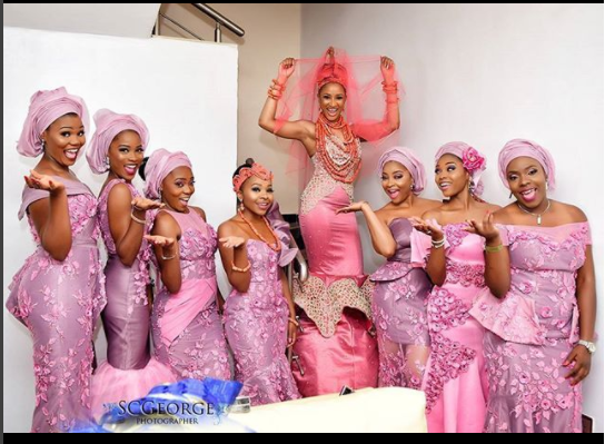 All The Glitz And Glamour At Adesuwa Etomi And Banky W's Wedding