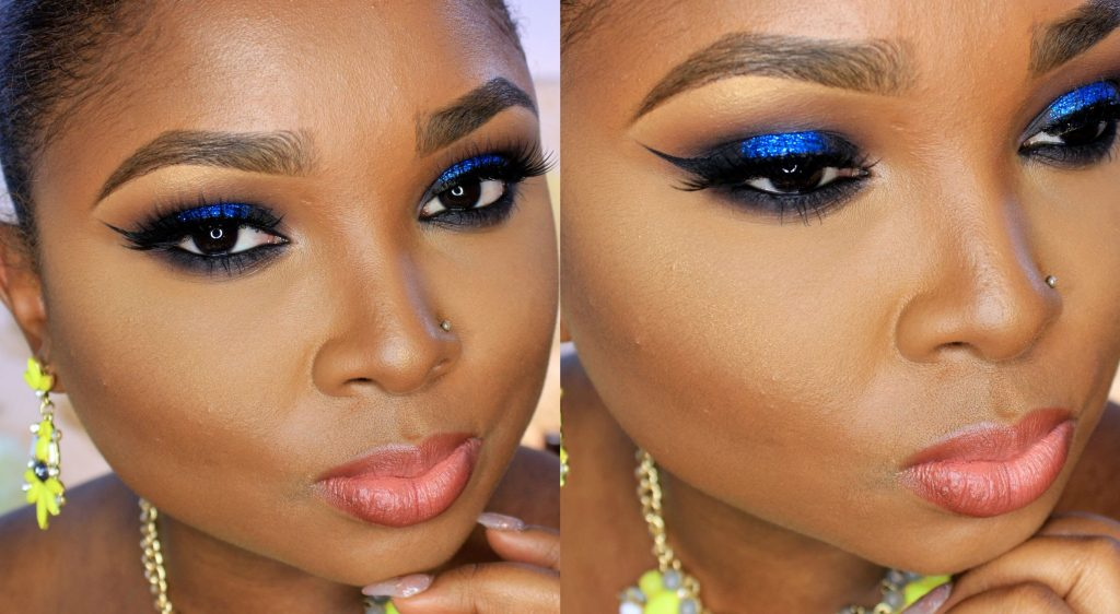 Blue Glitter Makeup For Owambe | Video Tutorial | FabWoman