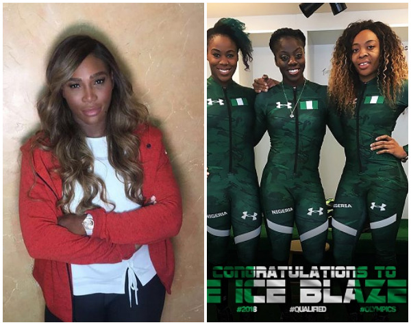 This Is Why Serena Williams Is Excited About Nigeria's Bobsled Team Set To Compete At The Winter Olympics