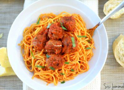 Spaghetti Jollof Minced Beef Recipe