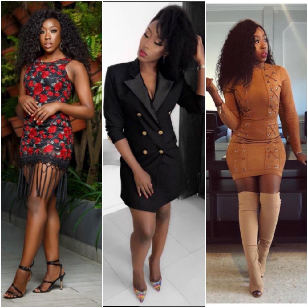 Beverly Naya Wearing Short Dresses