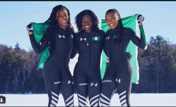 Nigeria's Bobsled Team makes Personal Best Time at Winter Olympics
