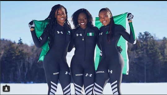 Nigeria's Bobsled Team Keeps Winning As They Make Personal Best Time at Winter Olympics