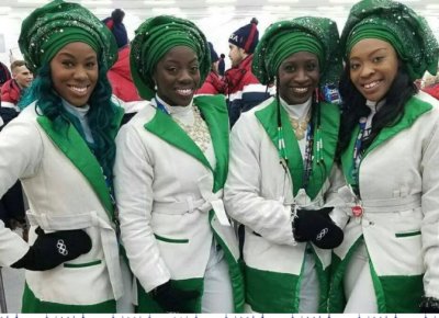 Nigerian Bobsled Team's Grand Entrance At Winter Olympics In Korea