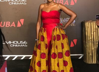 Nigerian Female Celebrities Outfits To Black Panther Movie Premiere