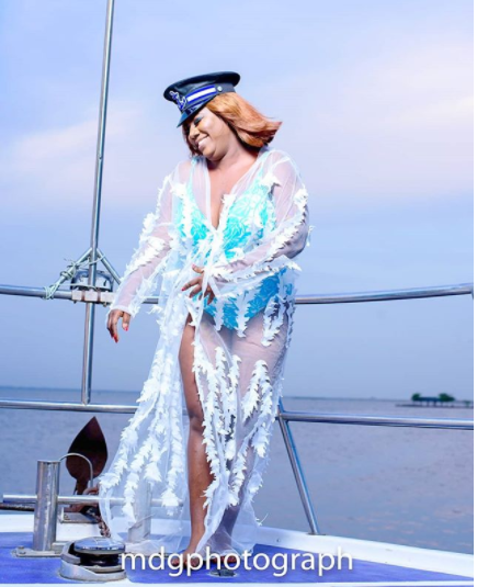 Lovely Photos From Actress, Adediwura Blarkgold's 40th Birthday Yacht Party