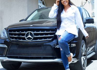 Laura Ikeji Buys Herself New Car As Birthday Gift