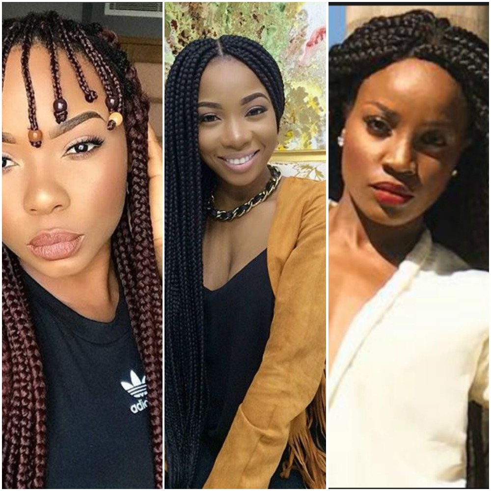 Nigerian Female Celebrities Braids