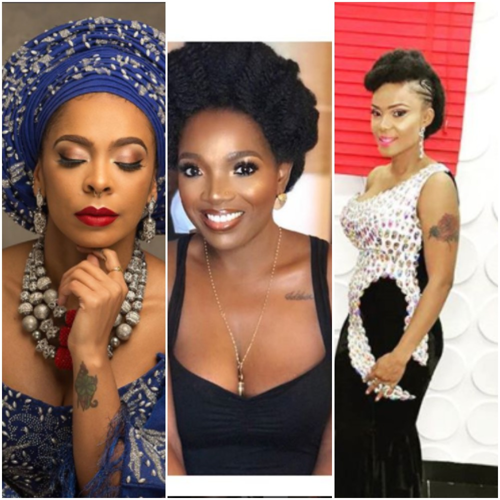 Nigerian Female Celebrities Tattoo
