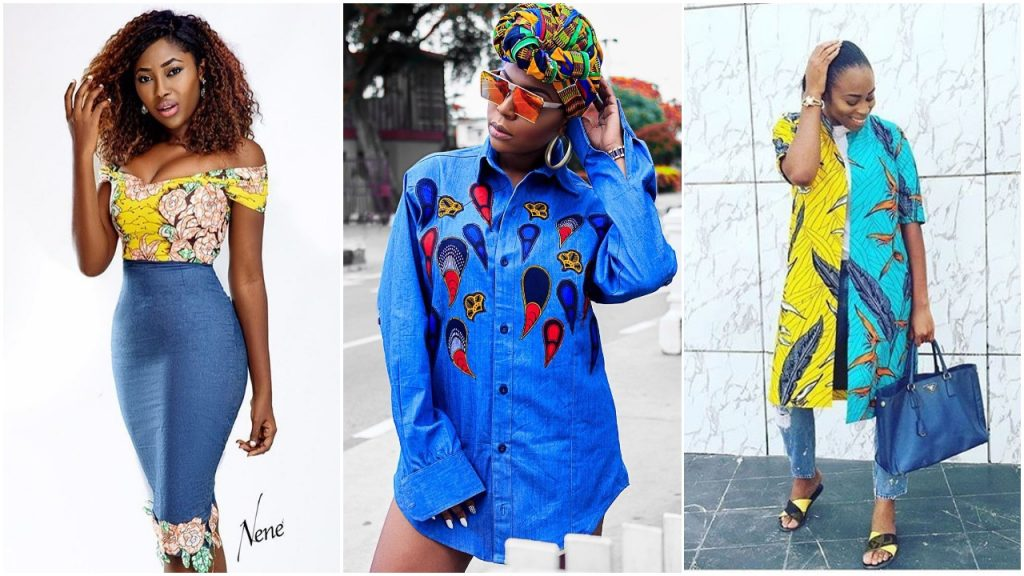 10 Beautiful Ways To Style Your Denim And Ankara Combination