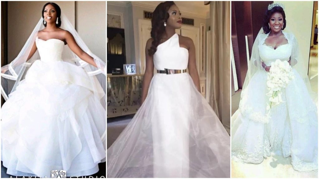 30 Most Unique Wedding Dresses: Nigerian Celebrities Unique Wedding Dresses