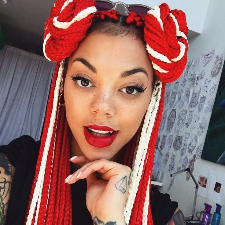 Blonde Red Box Braids 3 Fabwoman News Style Living