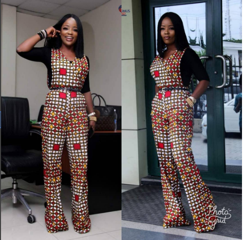5d132c2174b Nini would make you love in love with jumpsuits more with this wide leg  mixed ankara jumpsuit.