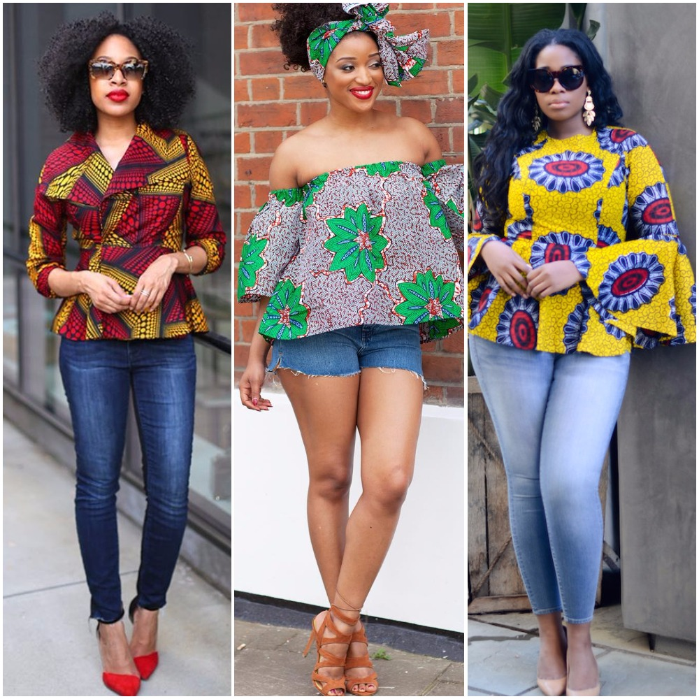These 10 Photos Will Teach You How To Rock A Denim And Ankara Combo