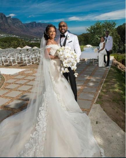 Adesua Etomi And Banky W White Wedding Outfits