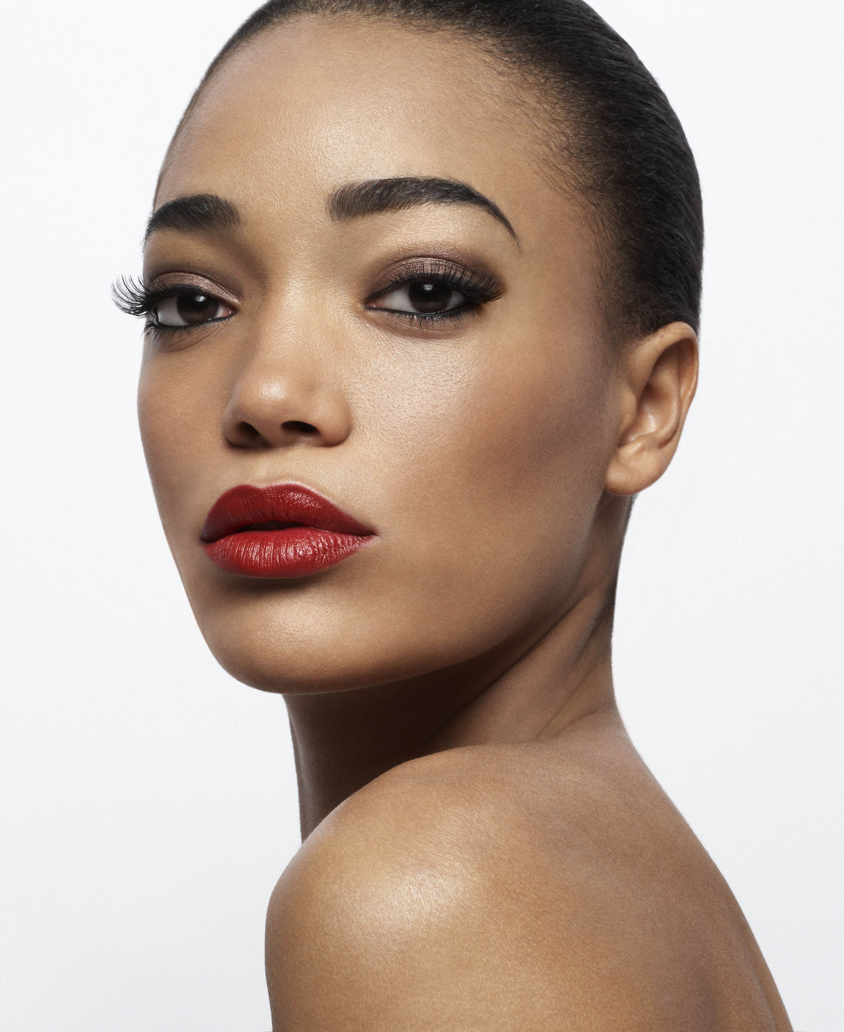 Image result for black lady red lips