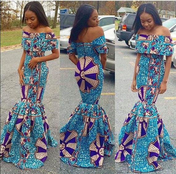 14 stylish ankara mermaid dresses you should sew 14 Stylish Ankara Mermaid Dresses You Should Sew mer1