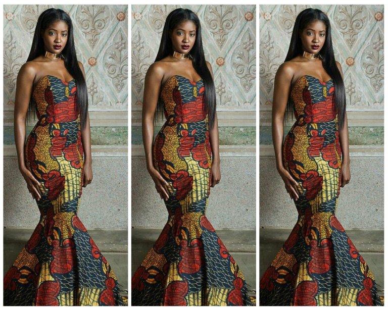 14 stylish ankara mermaid dresses you should sew 14 Stylish Ankara Mermaid Dresses You Should Sew mer10