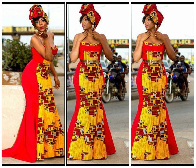 14 stylish ankara mermaid dresses you should sew 14 Stylish Ankara Mermaid Dresses You Should Sew mer12