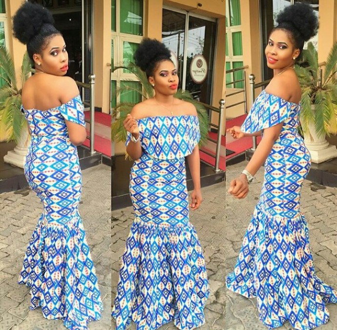 14 stylish ankara mermaid dresses you should sew 14 Stylish Ankara Mermaid Dresses You Should Sew mer13