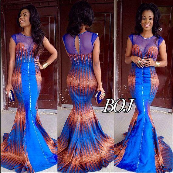 14 stylish ankara mermaid dresses you should sew 14 Stylish Ankara Mermaid Dresses You Should Sew mer4