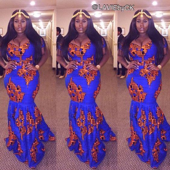 14 stylish ankara mermaid dresses you should sew 14 Stylish Ankara Mermaid Dresses You Should Sew mer7