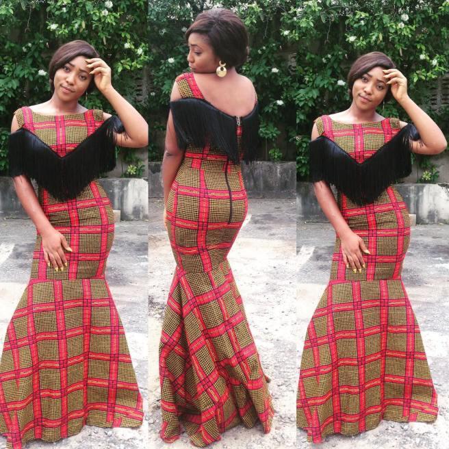 14 stylish ankara mermaid dresses you should sew 14 Stylish Ankara Mermaid Dresses You Should Sew mer8