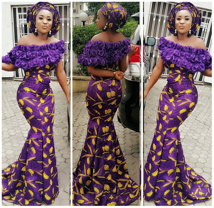 14 stylish ankara mermaid dresses you should sew 14 Stylish Ankara Mermaid Dresses You Should Sew mer9