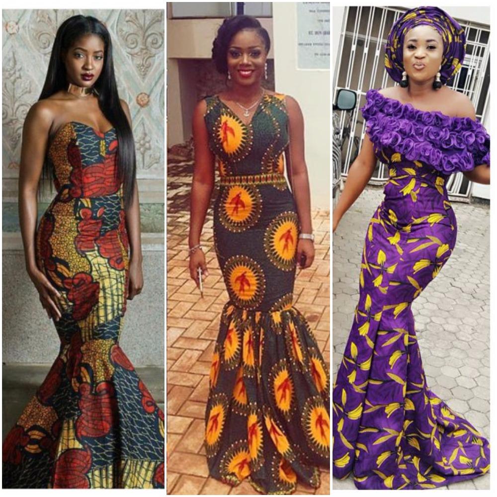 14 stylish ankara mermaid dresses you should sew 14 Stylish Ankara Mermaid Dresses You Should Sew merma2