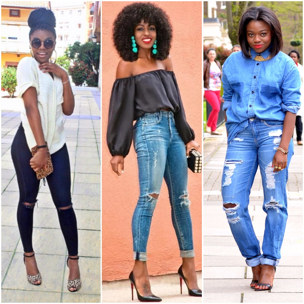 how to style ripped jeans