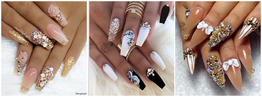 10 Trending 3D Nail Art Designs You Should Try For Your Next Event - 3D Nail Art Designs To Inspire Your Next Manicure FabWoman