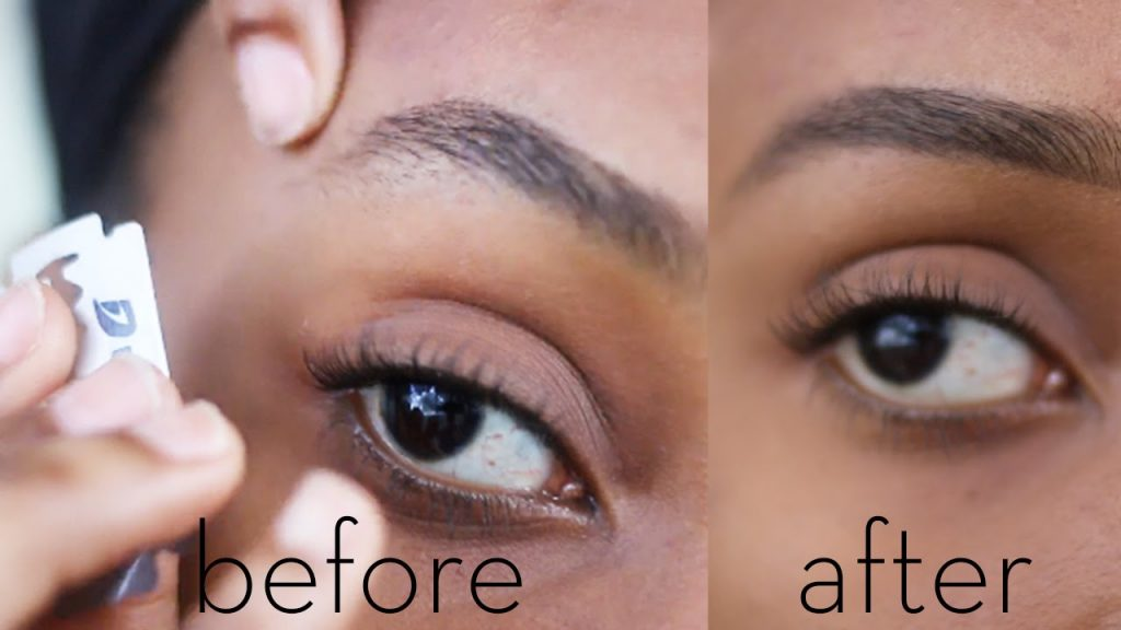 This Simple Tutorial Will Teach You How To Shape Your Eyebrows With Blade
