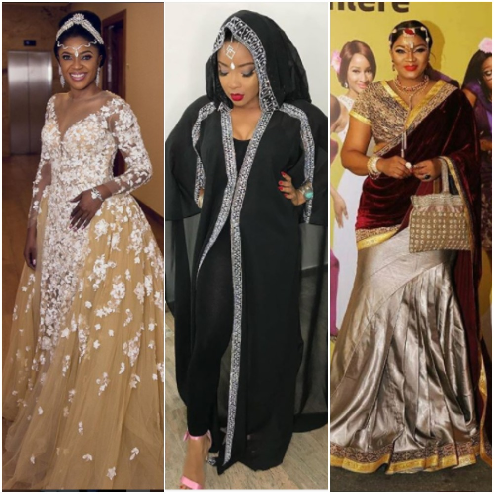 Nigerian Wedding Party: #TWP2: Nigerian Female Celebrities Outfits At The Wedding