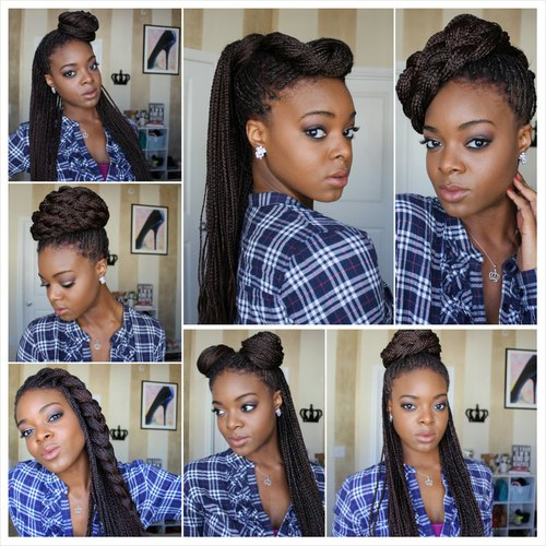 Different ways To Style Braids