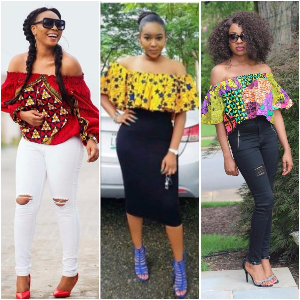 Latest Off Shoulder Ankara Tops For Every Woman Fabwoman