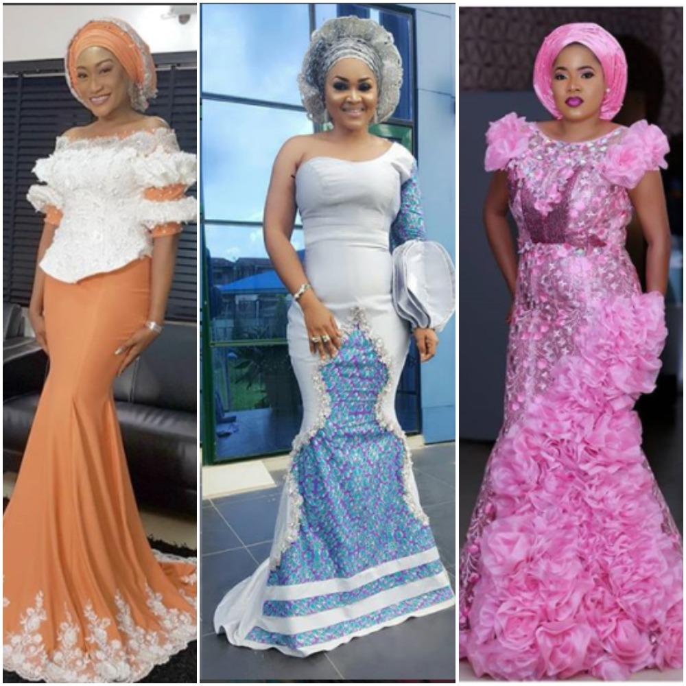 Nigerian Female Celebrities Asoebi Style Of 2017