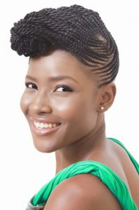 9 Ghana Weaving Hairstyles Perfect For Women Who Have Oval Faces