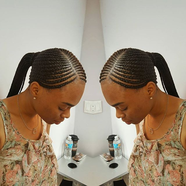Shuku All Back Ghana Weaving Hairstyle