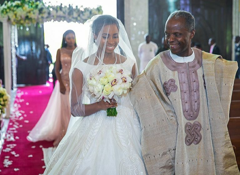 Yesterday Sunday The 17th Of March 2018 Was White Wedding Vice President Osinbajo S Daughter Oluwadamilola And Bola Shaa Son Oluseun Bakare In