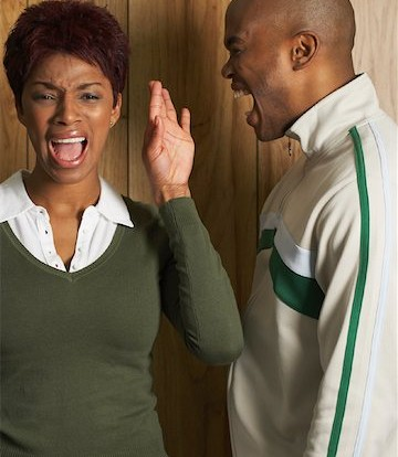 Image result for Black Couple yelling at the other