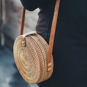 circle straw bag trend 2018
