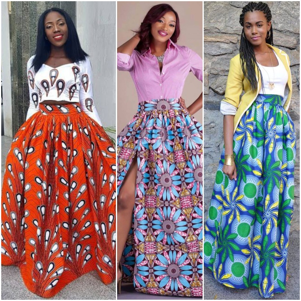 Latest Ankara Maxi Skirt Styles 2019  4a3f77ac8