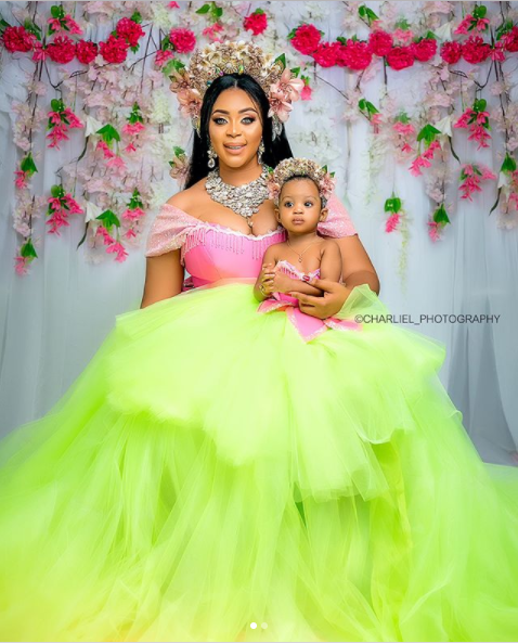 Mimi Orjiekwe Matching Cars For Herself And Daughter