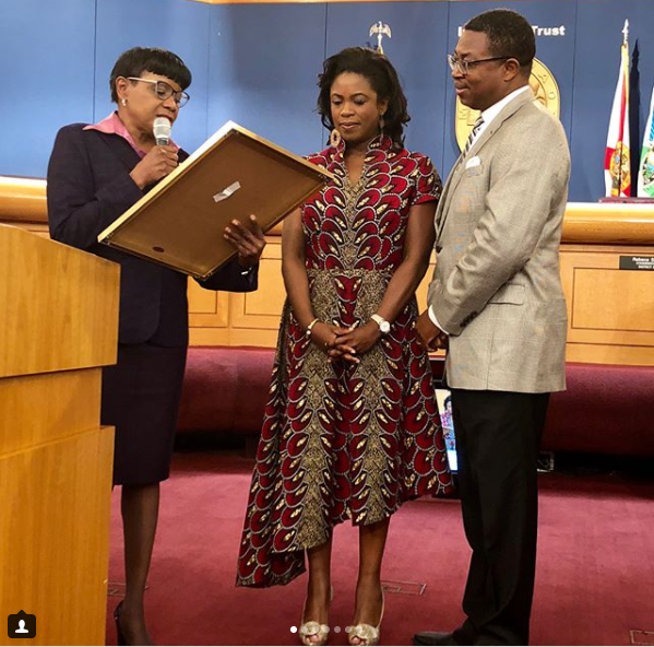 Sope Aluko Day Dedicated To Her In Florida County