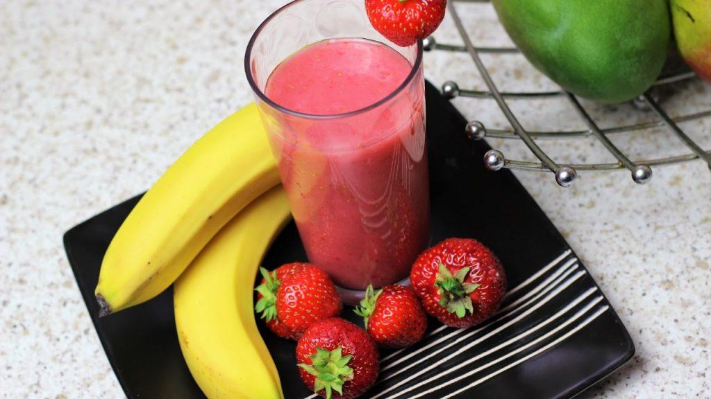 Strawberry Banana Milkshake Recipe
