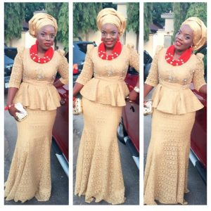 latest gold asoebi styles